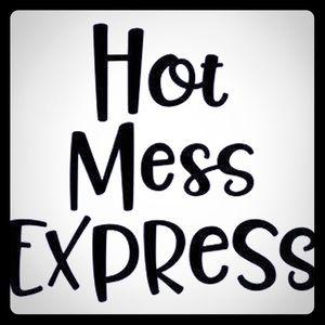 Hot mess express car window decal